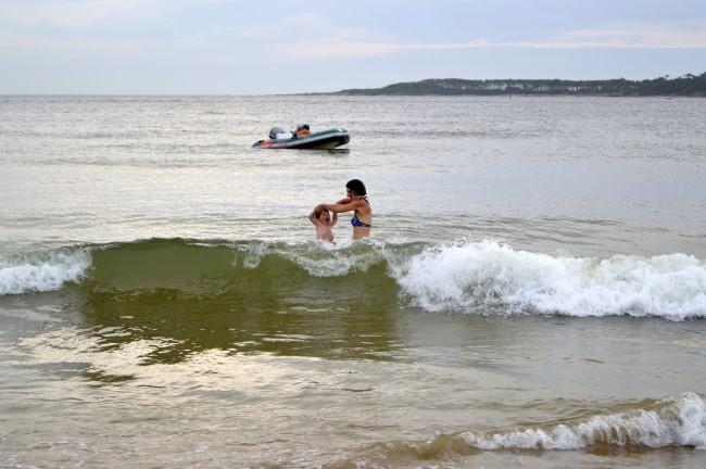 Mark's First Taste of the Beach in Uruguay