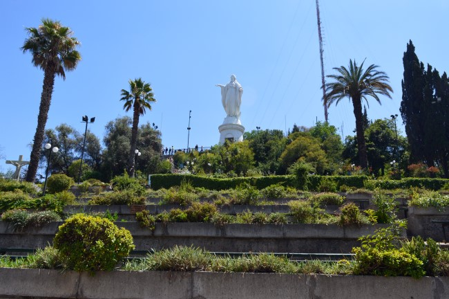 Statue of the Virgin Mary on San Cristóbal Hill