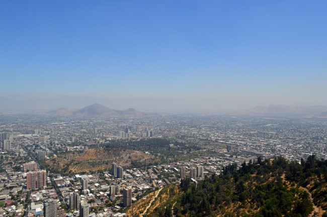 Santiago from San Cristóbal Hill