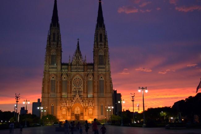 Sunset on Plaza Moreno