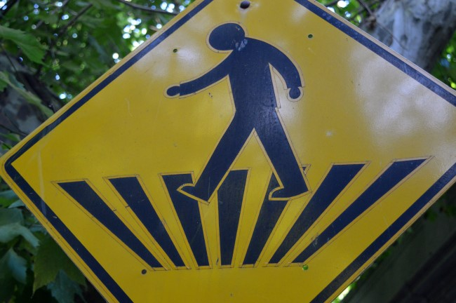 Funky Pedestrian Crossing Sign