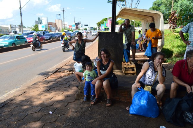 Waiting for the Bus in Foz do Iguaçu