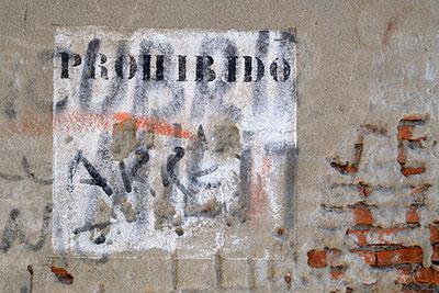 """""""Forbidden"""", Uruguay, January 2015"""