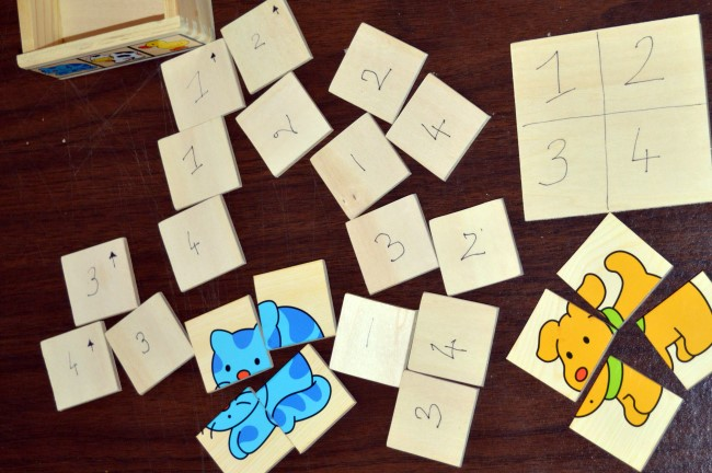 Numbering jigsaw pieces