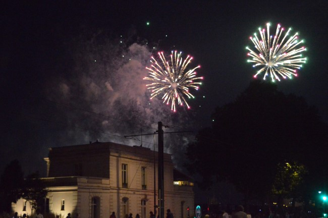 Bastille Day Fireworks in Nantes
