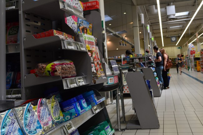 Inside a French Supermarket