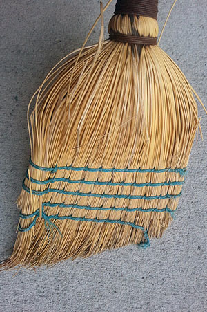 Old-fashioned broom I never actually use (but more picturesque than Swiffer)