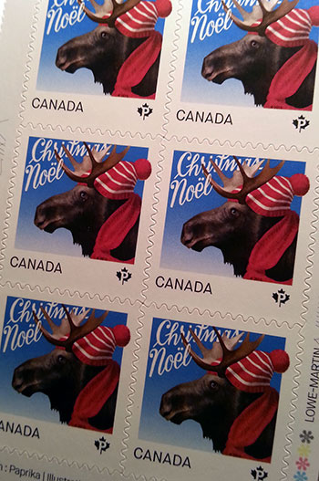 2015 Edition of Canada Post Christmas-Themed Stamps