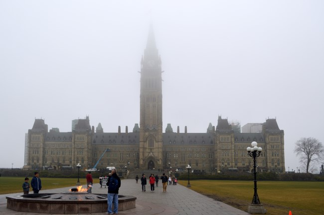 Parliament Hill in the Fog