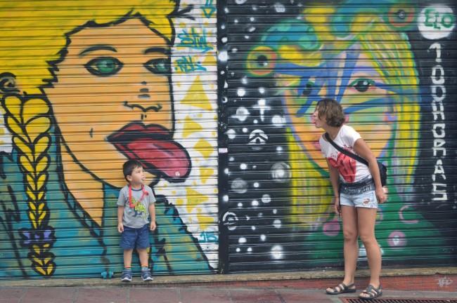 Street art downtown Curitiba