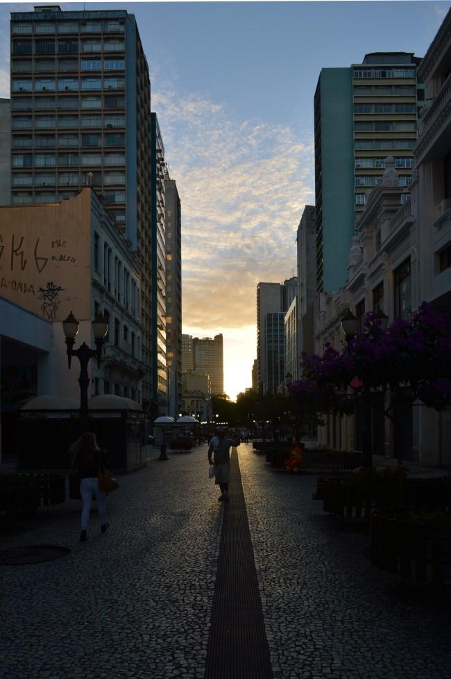 Sunset on the XV de Novembro