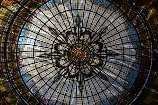 Ceiling of one of the pasajes