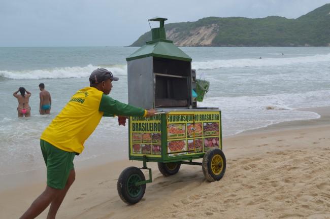 Beach food: BBQ meat