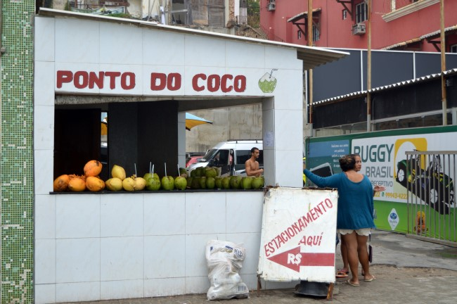 Beach drink: coconuts