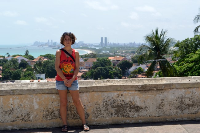 On top of the highest hill, Boa Viagem and Recife in the distance