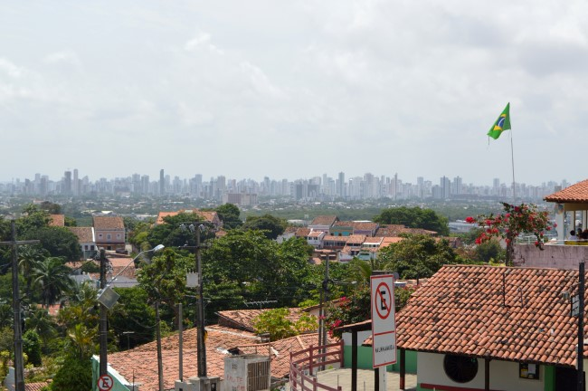 Skyline of Recife in the distance