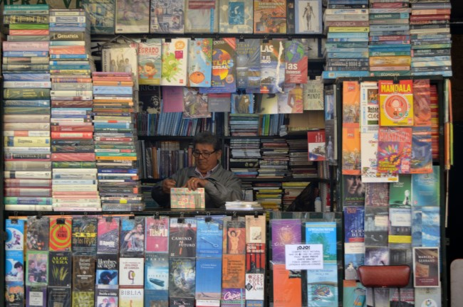 The street bookstore guy