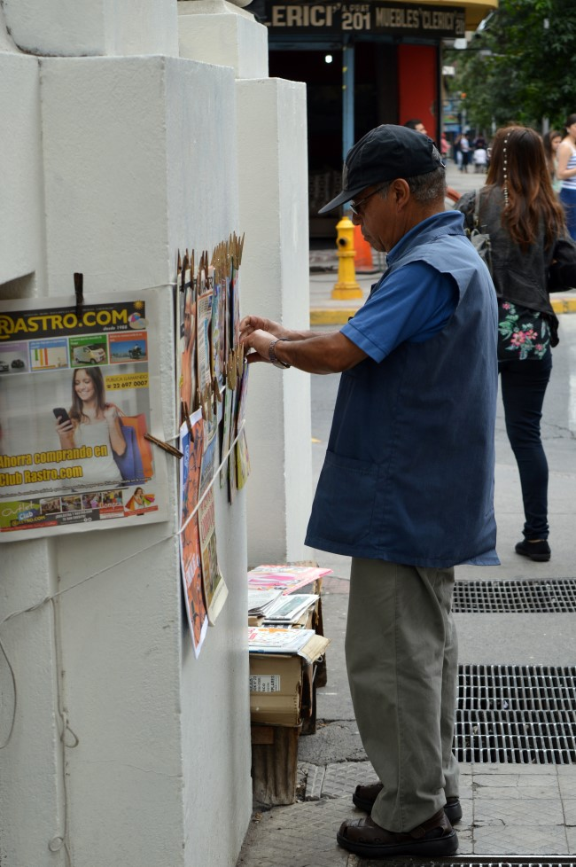 The newspapers vendor