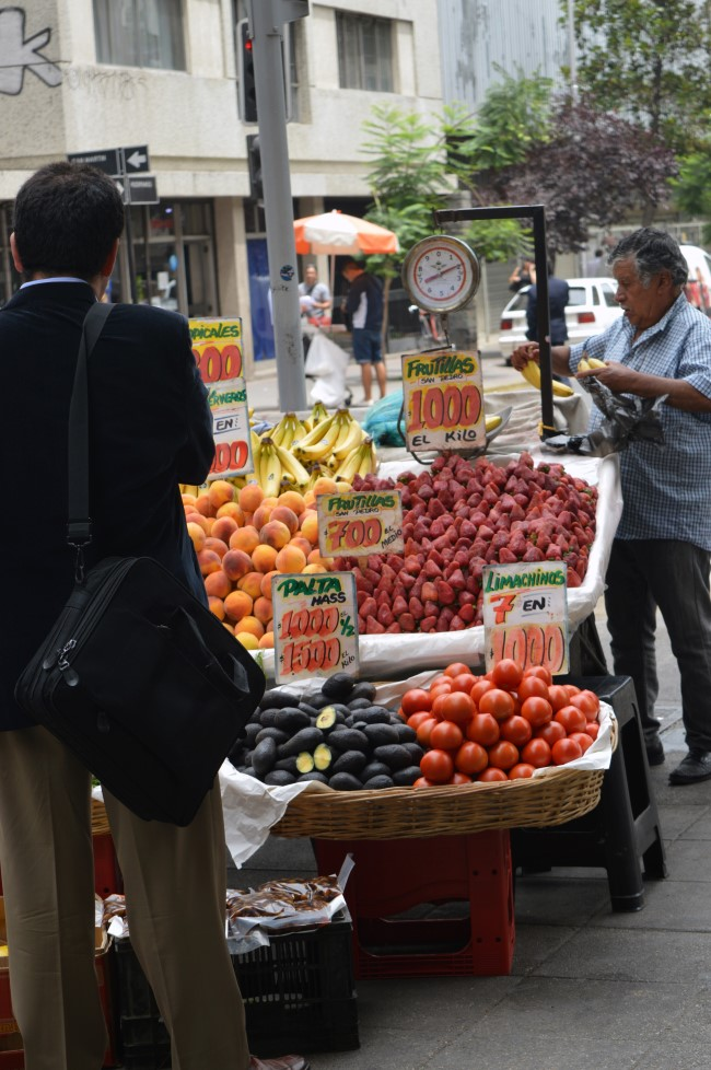 Fruit vendor in the street