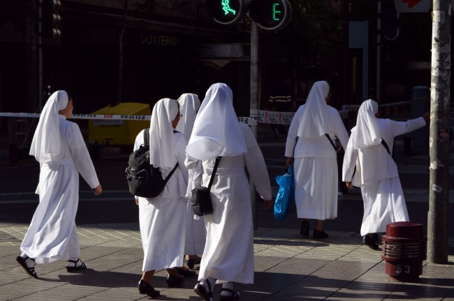 Nuns-tourists