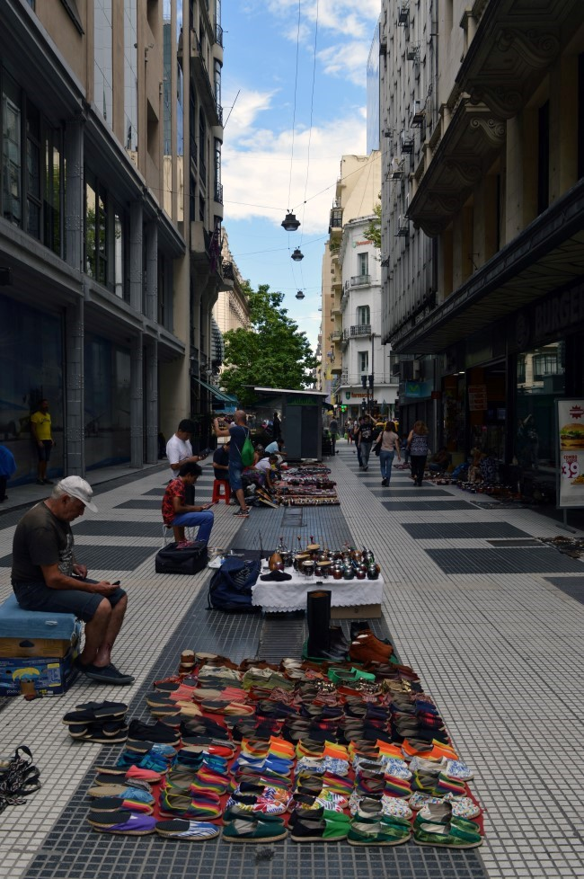 Street market on Lavalle, the pedestrian street