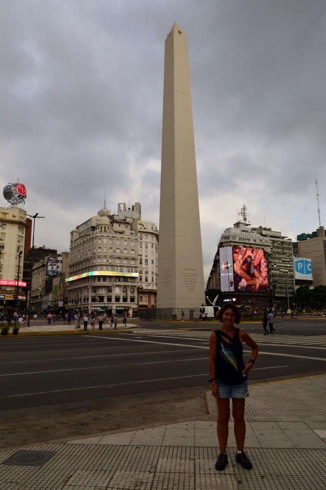 Obelisco de Buenos Aires and 9 de Julio Avenue