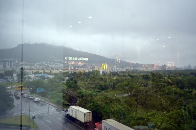 Florianópolis under the rain