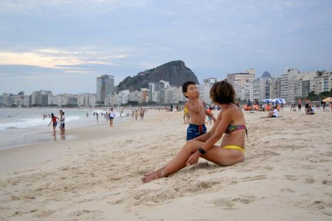 Ending the day in Copacabana