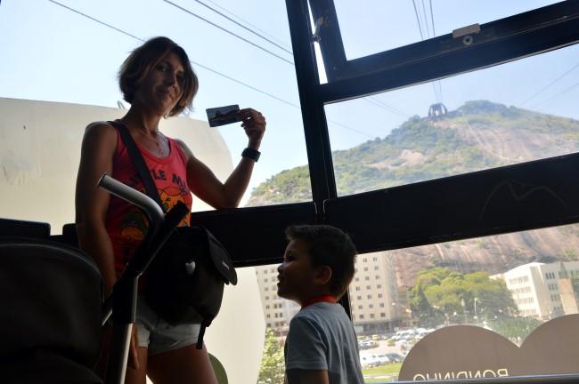 Inside the Bondinho do Pão de Açúcar