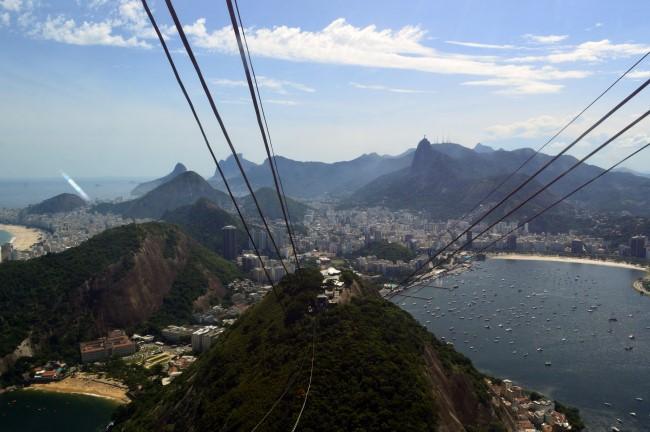 Looking down from the Pão de Açúcar