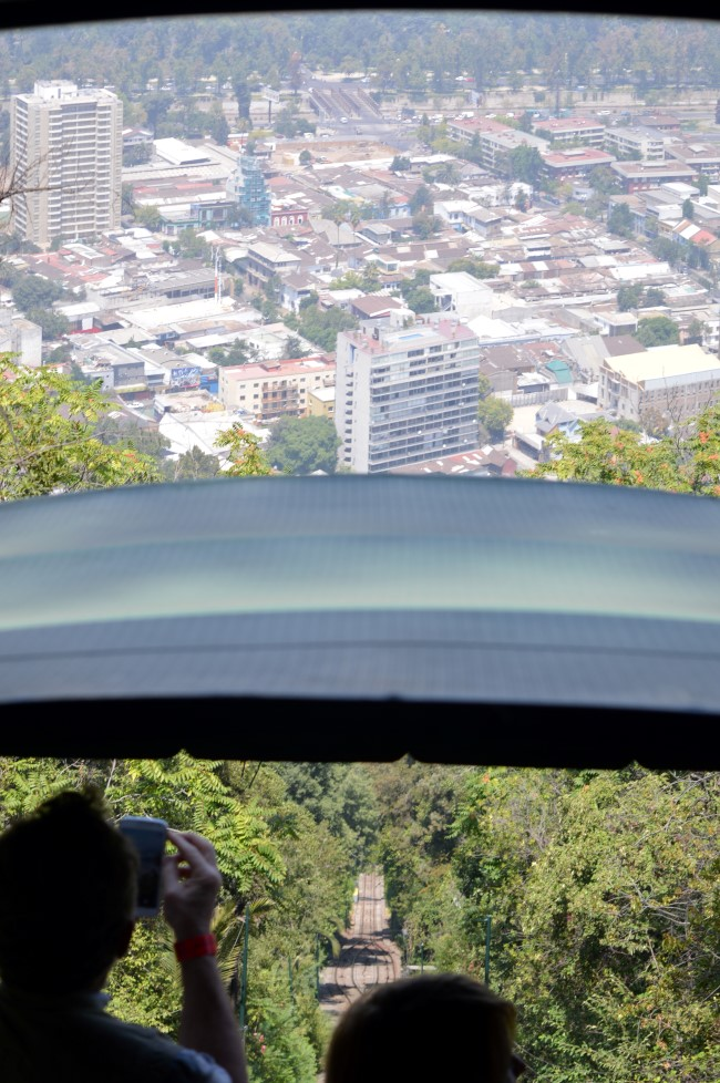 The funicular to the Cerro San Cristóbal