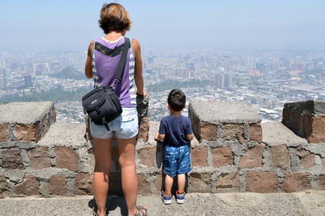 Looking at Santiago below