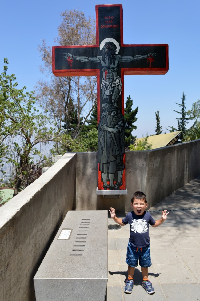 The walk to the sanctuary dedicated to the Immaculate Conception