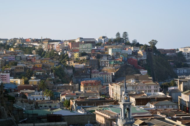 Puerto de Valparaíso from the hills
