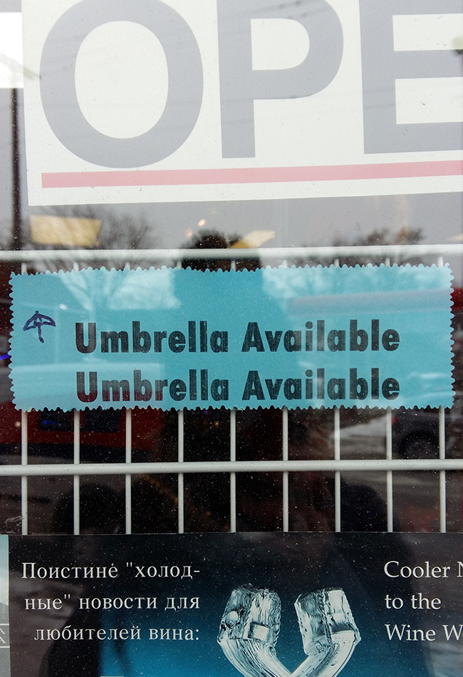 Umbrella available! Twice! With little doodle!
