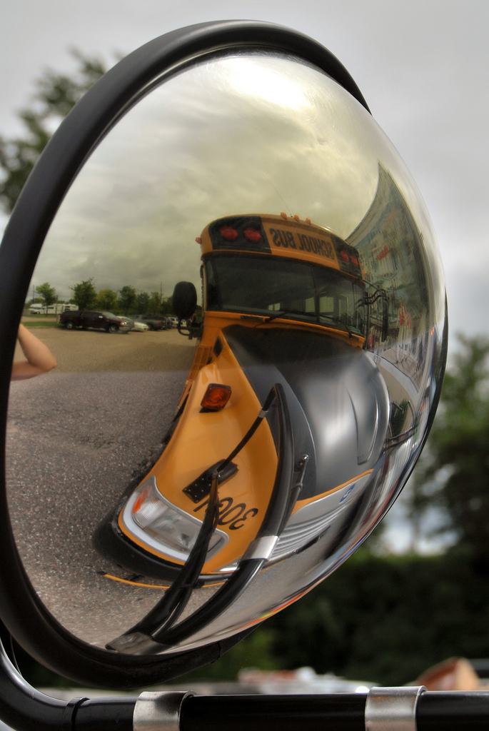 School bus in rural Ontario, 2010
