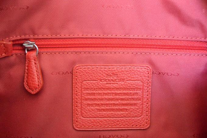 Coach satchel in true red