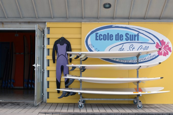 Surf school on the beach