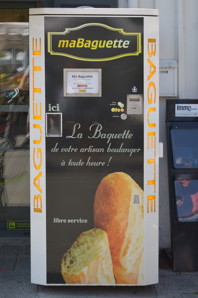Baguette vending machine in Saint-Gilles-Croix-de-Vie