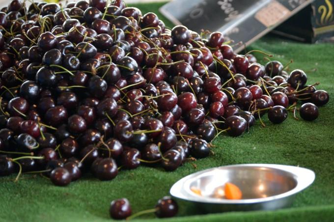Cherries at Talensac Market