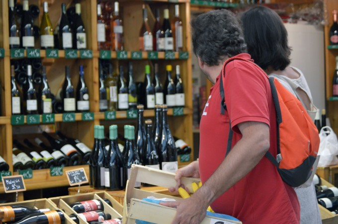 Wine shop inside the market