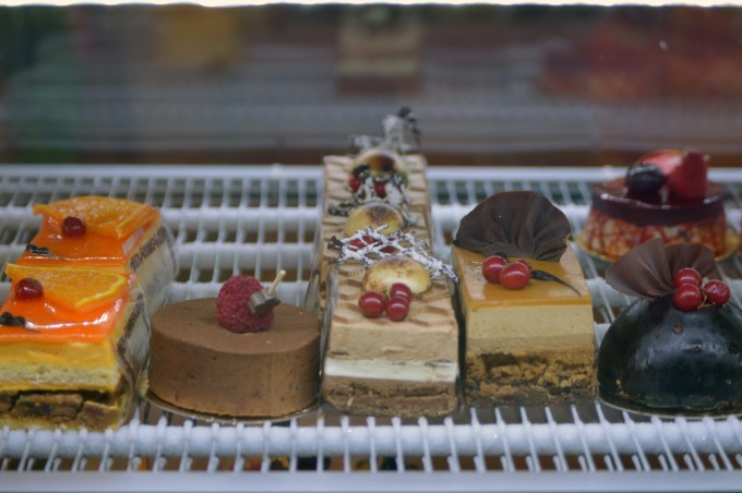 Fancy pastries at Talensac Market