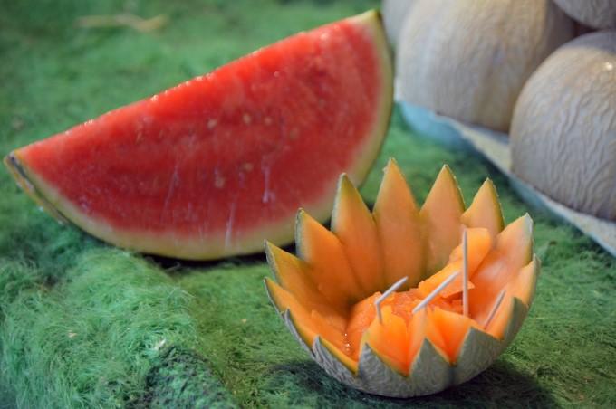Watermelon and Cantaloupe at Talensac Market