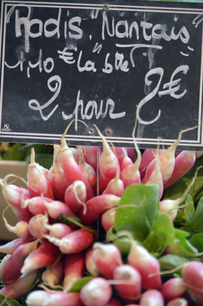 Radishes at Talensac Market