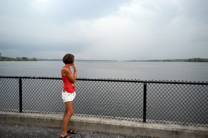 Watching the storm coming on Bate Island