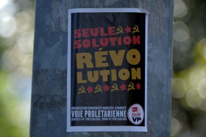 """The only solution: a revolution"""
