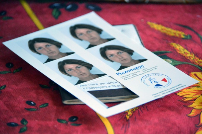 My passport pictures and old French passport