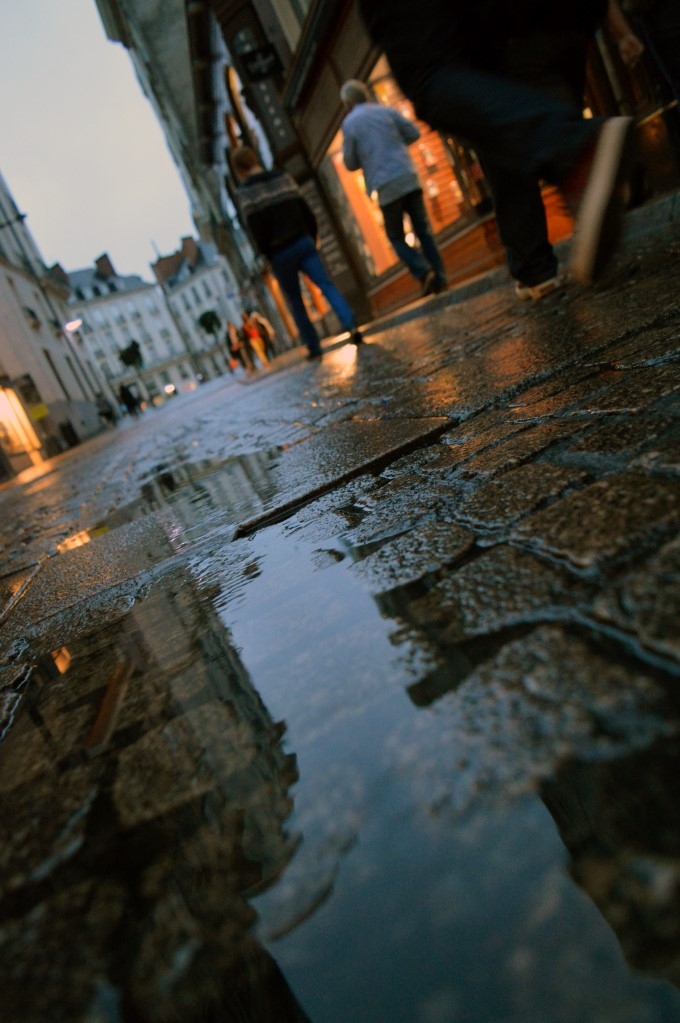 Puddles of rain