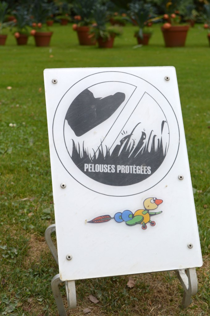 Do NOT walk on the grass. Like, ever.