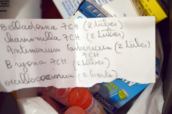 My homeopathy shopping list